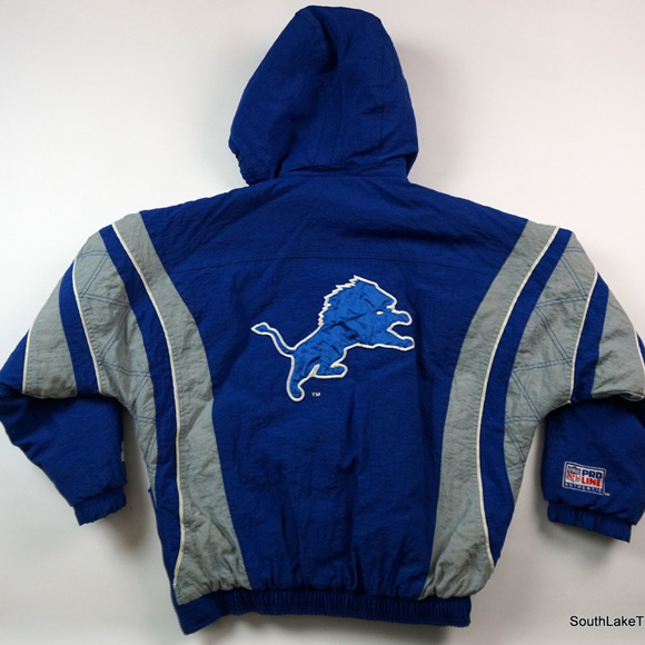 STARTER Jackets & Coats | Vintage Detroit Lions Pullover Jacket Rare  for cheap